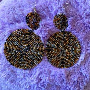 ✨Host Pick✨ Vintage Beaded Drop Down Earrings